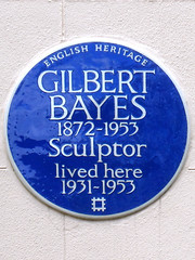 Photo of Gilbert Bayes blue plaque
