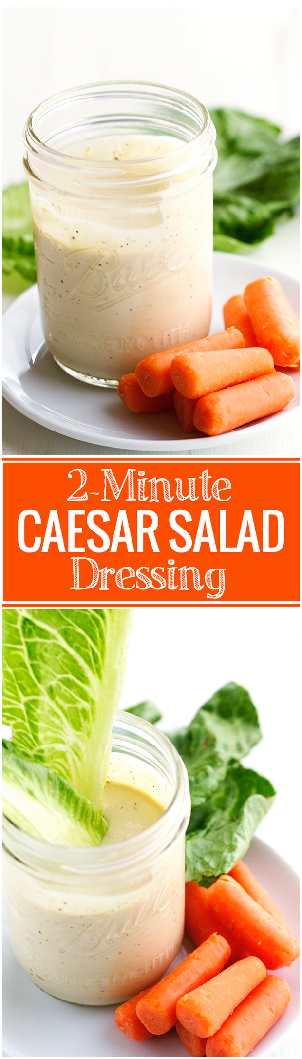 2-Minute Caesar Salad dressing that is THE BEST YOU'VE EVER HAD! #caesarsalad #caesarsaladdressing #caesardressing | Littlespicejar.com