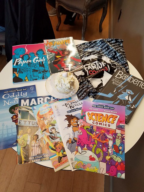 Comic Book Day Haul from Fantom and a Violet Meringue Dessert from Je Ne Sais Quoi