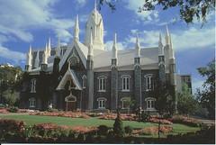 postcard of Assembly Hall, Temple Square, Salt Lake City, Utah USA
