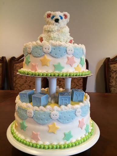 Sweet Simple Cake by Suzanne Foster of Nonnie's Creative Cakes in Norwalk Calif