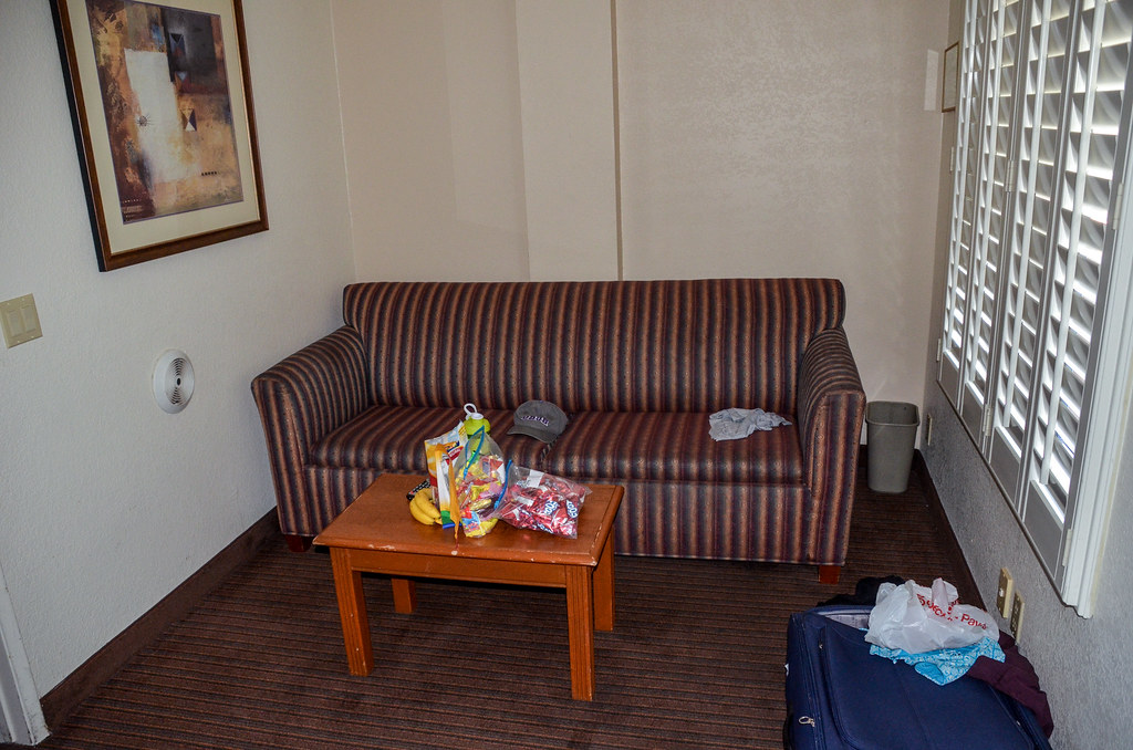 Couch hotel room
