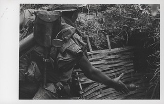 Marine Throws an M-26 Grenade in an Enemy Cave, May 1968