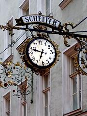 Clock Sign Scheffer Juwelers & Watches in Salzburg Austria