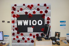 ANZAC Day display at Bishopdale Library