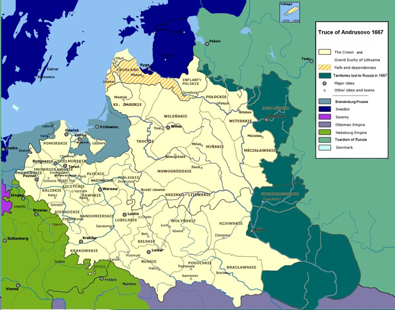 East Europe after Treaty of Andrusovo, from Wikipedia