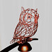 Western Screech Owl 1 Wire Sculpture by Ruth Jensen