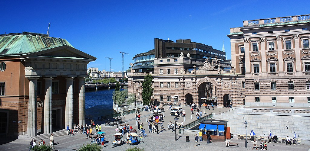 Högvaktsterrassen, Hauptwachsterrassen, Main Guard Terrace, Gamla Stan, Stockholm, Sweden