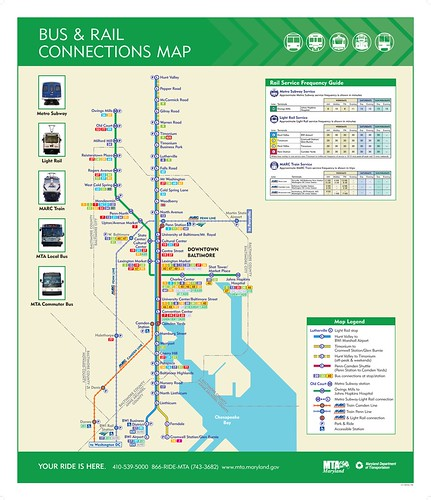 MTA transit map for Baltimore