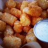 Tots at McMenamins on a sunny day at Edgefield. Classic!