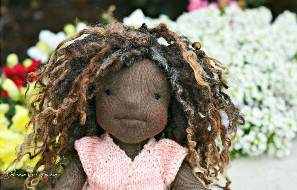 Ebony Magnolia - Bellarina style natural fiber doll
