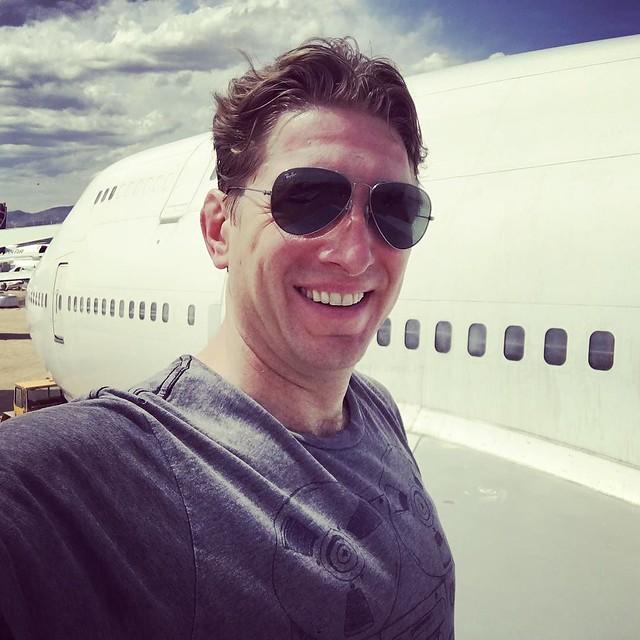 Wingtip #selfie from the #747 of #bigimagination