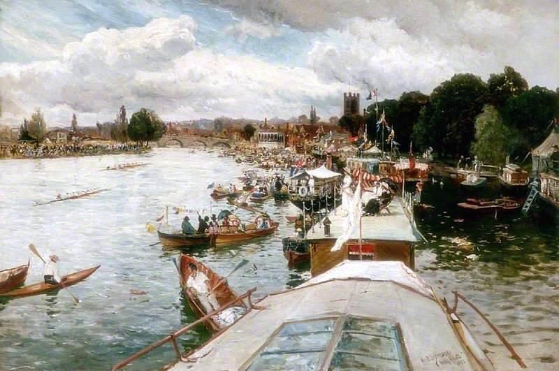 Henley Regatta by Alfred de Breanski, Sr. - 1881