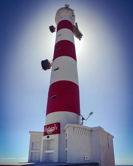 Uno de los siete faros de la Isla de Tenerife, el de Punta Abona, en el municipio de Arico.