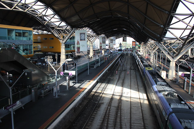Southern Cross (Spencer Street) Station looking south from footbridge