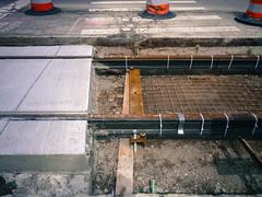 Rail work, Woodward Ave, Detroit