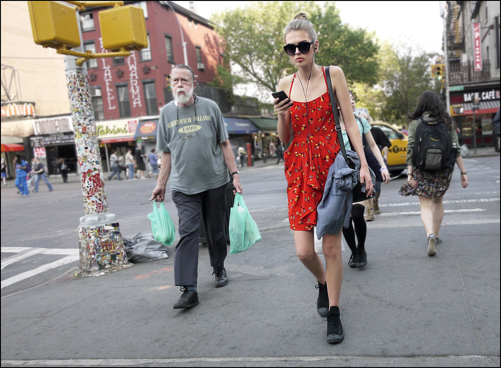SS5-15 7w red with yellow print spaghetti strap summer dress black hightop converse big sunglasses east village