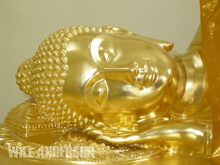 Head of the Reclining Buddha - Tung Talad Park - Nakhon Si Thammarat - THAILAND