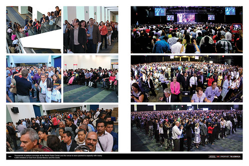 Thousands of pastors converge at the World Trade Center and the venue is soon packed to capacity with nearly 4,000 ministers of God from across Mexico and the world.