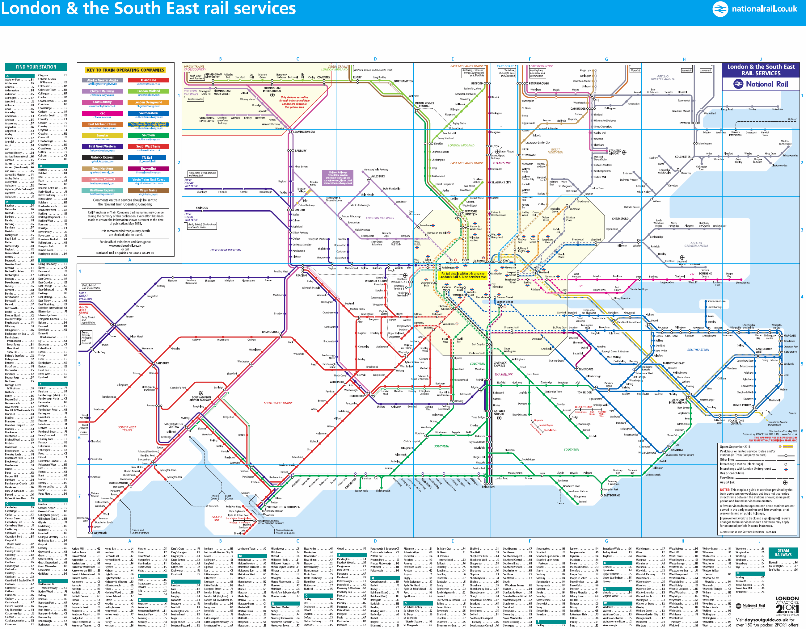 London Transport Thread Page SkyscraperPage Forum - National rail map london