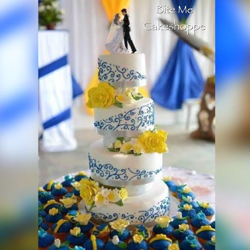 Lovely Wedding Cake by Lorelin Feliciano of Bite Me Cakeshoppe