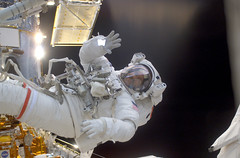 Astronaut John M. Grunsfeld EVA