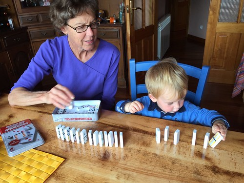 Dominoes with Grandma