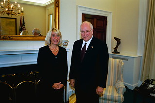 Vice President Cheney with Deputy Assistant Attorney General Alice Fisher