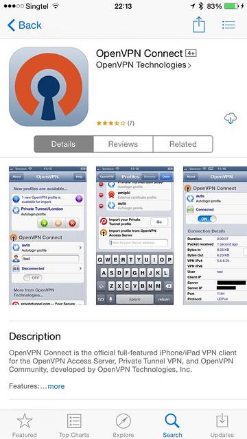 OpenVPN iOS App - App Store