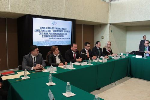 El día 19 de julio del 2016 se llevó a cabo en la H. Cámara de Diputados la reunión con las Comisiones Unidas Asuntos Frontera Norte y Asuntos Frontera sur-sureste y el INADEM para dar a conocer las reglas de operación del fondo de fronteras.