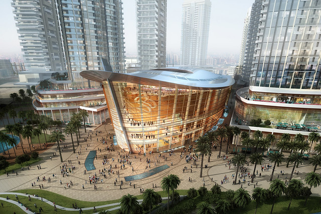 Artist's impressions of Dubai Opera. The venue opens on Wednesday, August 31. Courtesy Emaar