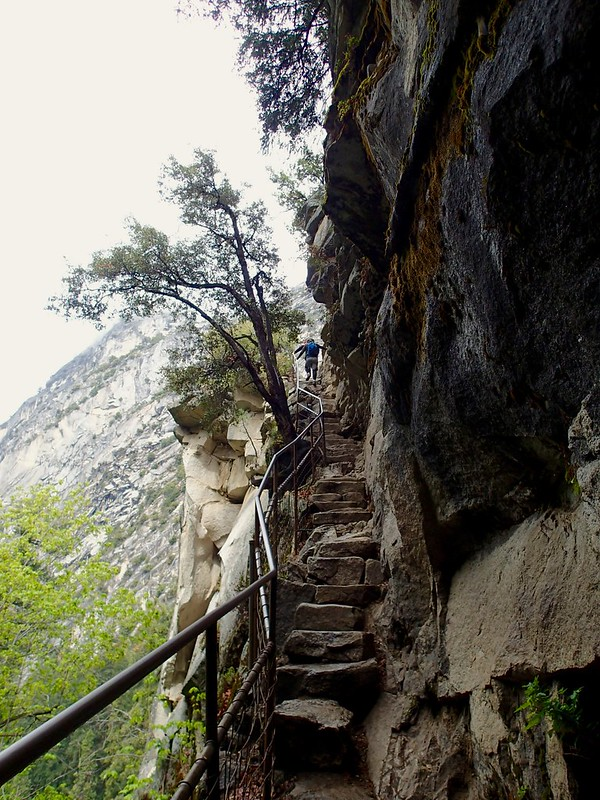 Rock stairs to the top of Vernal Falls