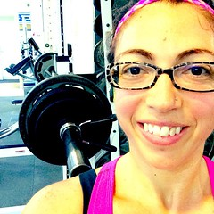 Woohoo! 65kg barbell back squat today! Only 1 of my 6 sets, but I\'m getting there!