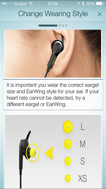 Jabra Sport Pulse - iOS App - Change Wearing Style