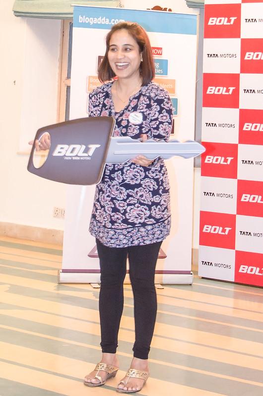 Ragini Puri Tata Bolt winner