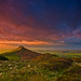 Roseberry Topping Stormy Sunset ver2 by paul downing