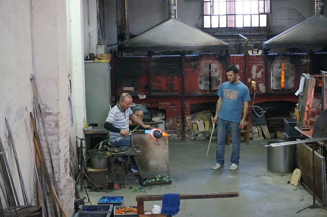 Glass blowing demonstration in Murano