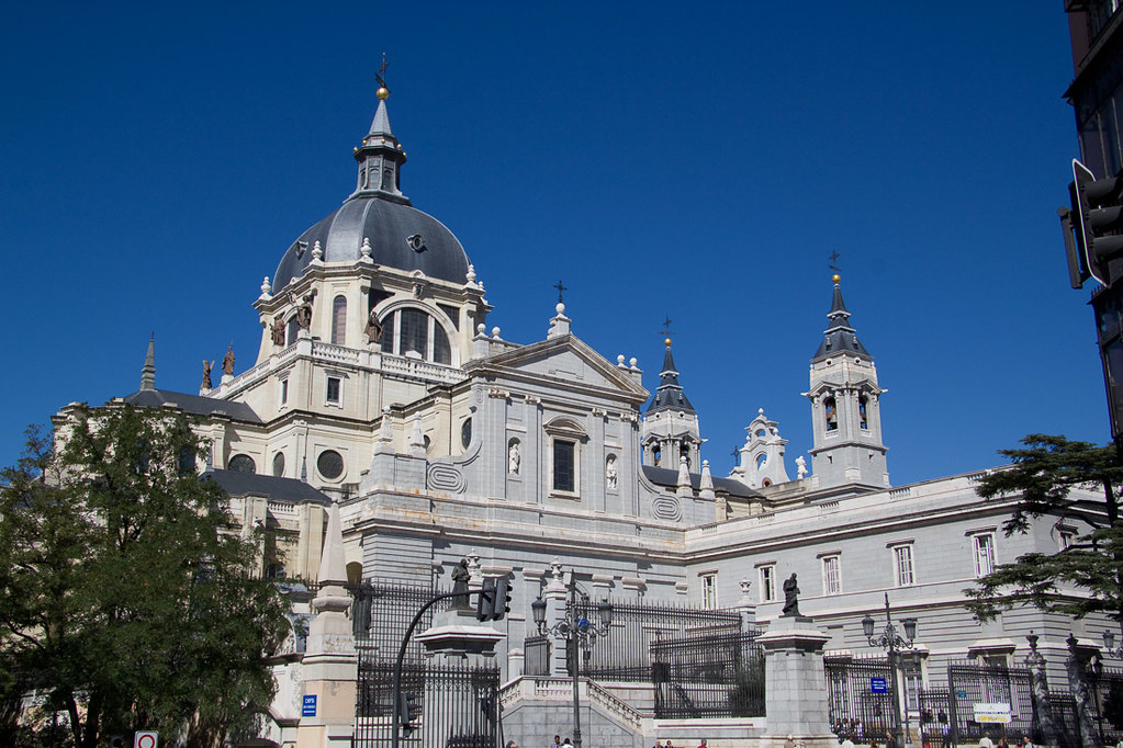 Outside Almudena Cathedral