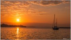 sunrise and a boat