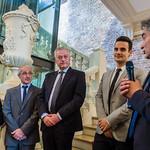 Reception avec le maire de Vanves, Bernard Gauducheau