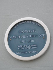 Photo of Sheila Sherlock blue plaque