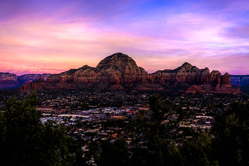 red sky rock clouds sunrise dawn sedona canyon formation mesa aireport arixona