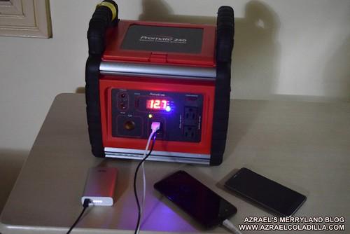 Promate 240 portable battery generator