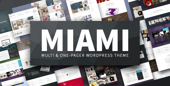 Miami v1.5.5 - Multi & One Page WordPress Theme