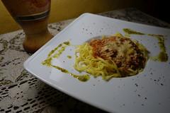 Tagliolini with Bolognese Sauce