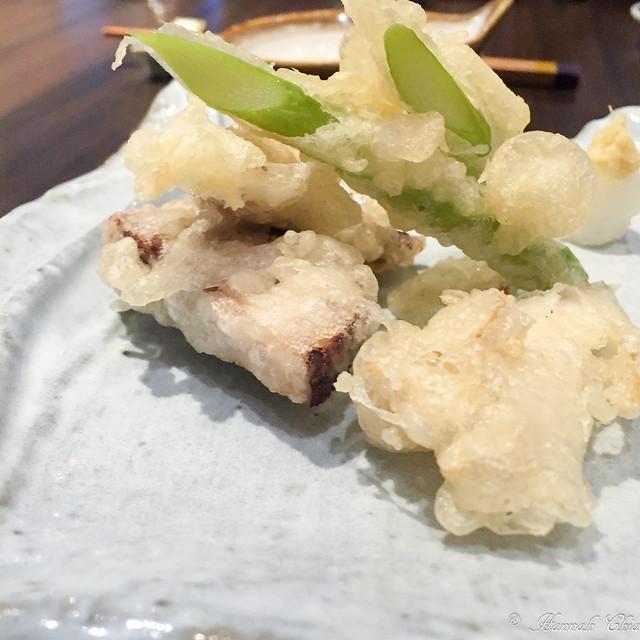 Tempura - Kurobuta, Maitake and Asparagus from Ehime