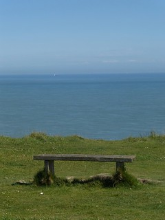 Bench on clifftop