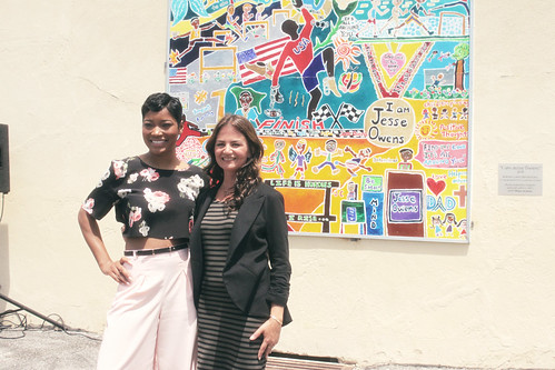 I am Jesse Owens Mural Dedication with actress Keke Palmer