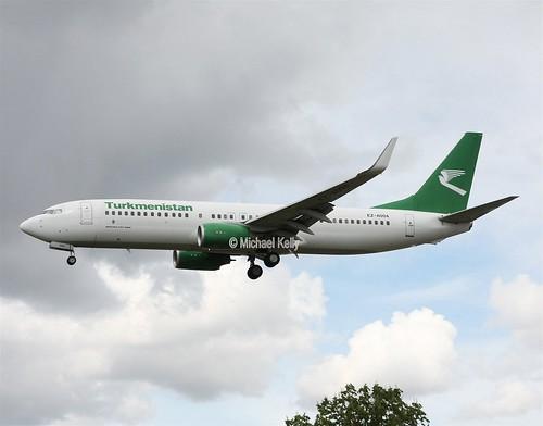 Turkmenistan Boeing 737 EZ-A004