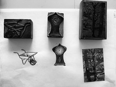 Hand printed the 3 printing blocks I bought from antique shops in Bridgnorth. #printmaking #engraving